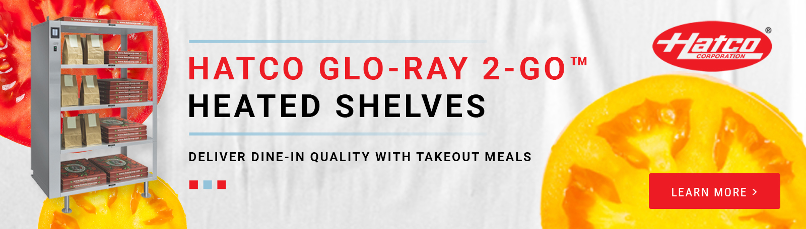 Hatco Glo-Ray 2-Go Heated Shelves - Deliver Dine-in Quality with Takeout Meals