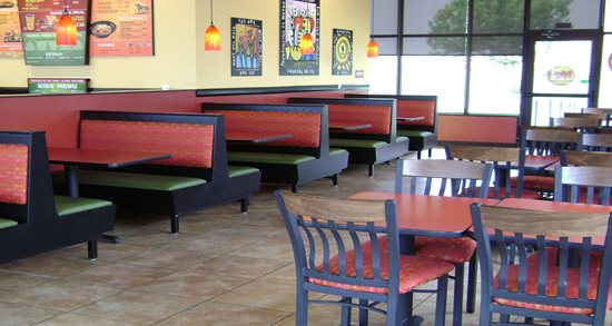 Moe's Southwest Grill dining room