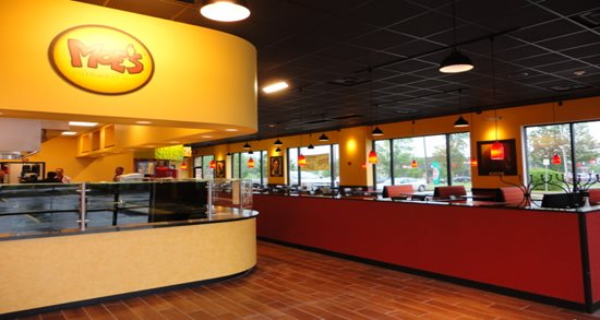 Moe's Southwest Grill kitchen and dining room