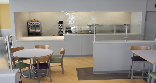Trinity Services cafe and open kitchen