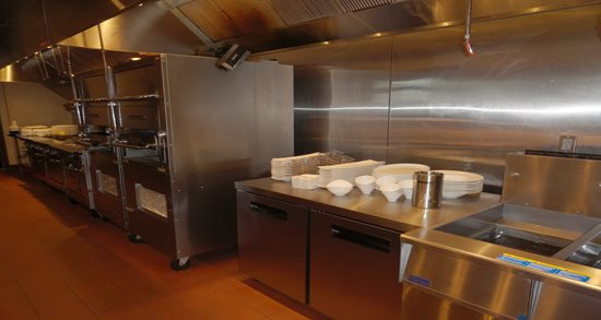 Ken Stewart's East Bank kitchen line and fry station