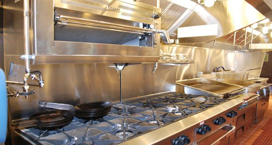 Gather restaurant new kitchen equipment, salamander, stoves