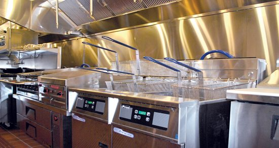 Gather restaurant new kitchen equipment, fryolators
