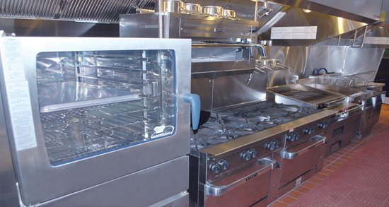 Gather restaurant new kitchen equipment, combi oven