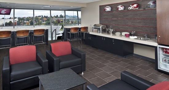 Washington State University luxury box and concessions