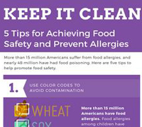 INFOGRAPHIC: 5 Food Safety and Allergy Prevention Tips