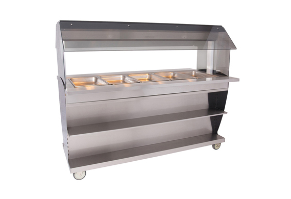 Alto-Shaam HFT2SYS-500 Hot Food Table Island with Overhead Canopy