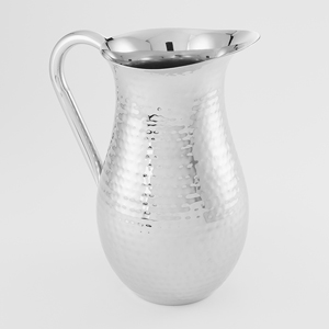 STAINLESS STEEL HAMMERED BELL PITCHER