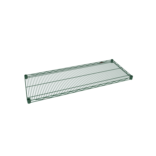 "Green Epoxy Covered Shelving, 24""D x 36""W"