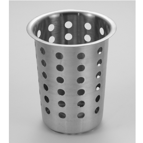 Perforated Silverware Cylinder, S/S