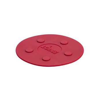 Lodge ASLMT41 8 Inch Large Magentic Trivet, Red