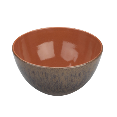 Arcata, Terracotta, Salad Bowl, Chestnut Reactive