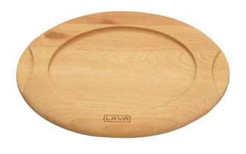 "Arcata, Wood Underliner for 7 7/8""W x 5 7/8""W Oval Dish, Cast Iron"