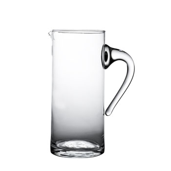 "Arcata, Straight Sided Pitcher, 2 liter, 10 1/4""H, 4 3/8"" dia."