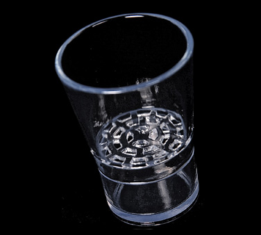 Spill-Stop Glassware