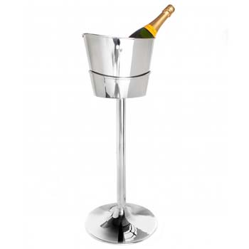 Steelite DW Haber Wine Coolers Stainless Steel, Wine Stand For Two Bottle Oval Scoop Cooler