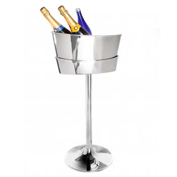 Steelite DW Haber Wine Coolers Stainless Steel, Wine Stand For Six Bottle Oval Scoop Cooler