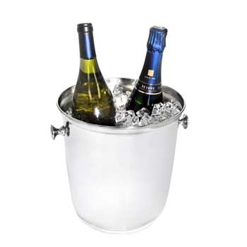 Steelite DW Haber Wine Coolers Stainless Steel, Wine Cooler Two Bottle W/ Side Knobs